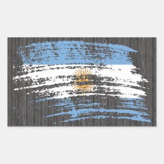 Cool Argentinean flag design Rectangular Sticker