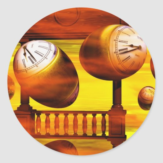 Cool art by Lenny surreal paintings Classic Round Sticker