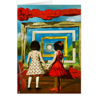 Cool art by Lenny surreal paintings Greeting Card