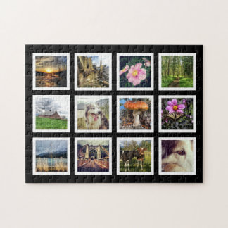 Cool Art Gallery Style Instagram Photo Showcase Jigsaw Puzzle