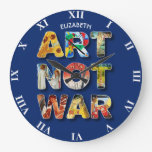 Cool Art Not War Famous Artists For Peace Large Clock