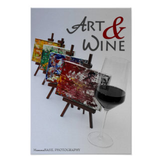 Cool Art & Wine Poster! Poster