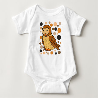 Cool Artistic Barn Owl Abstract Art Baby Bodysuit