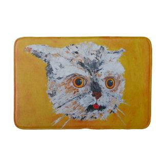 Cool Artistic Cat Face Bath Mat! Bath Mat