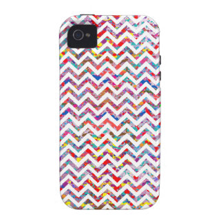 Cool, Artistic, Chevron Pattern Vibe iPhone 4 Case