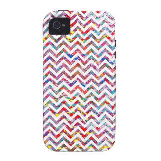 Cool, Artistic, Chevron Pattern Vibe iPhone 4 Case