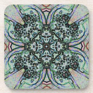 Cool Artistic Cross Shaped Pattern Beverage Coaster