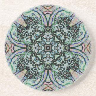 Cool Artistic Cross Shaped Pattern Coaster
