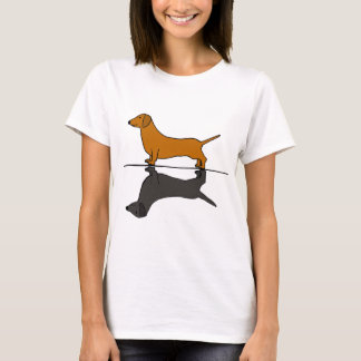 Cool Artistic dachshund Dog and Shadow Art T-Shirt