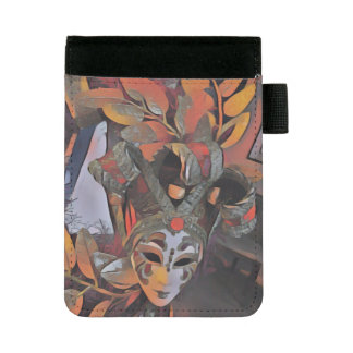 Cool Artistic Festive Decorative Mask Mini Padfolio