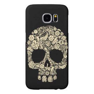 Cool Artistic Floral Sugar Skull Samsung Galaxy S6 Case