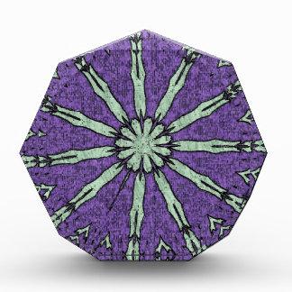 Cool Artistic Lavender Mint Mandala Pattern Acrylic Award