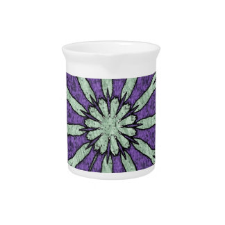Cool Artistic Lavender Mint Mandala Pattern Drink Pitchers