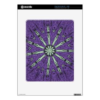 Cool Artistic Lavender Mint Mandala Pattern iPad Skin