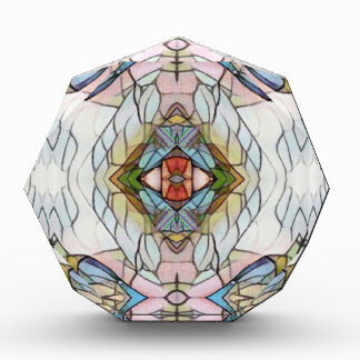 Cool Artistic Modern Stained Glass Pattern Acrylic Award