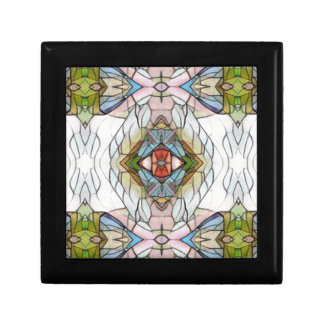 Cool Artistic Modern Stained Glass Pattern Gift Box