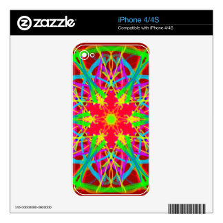 Cool Artistic Star Shaped Psychedelic Pattern iPhone 4 Skins
