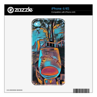 Cool Artistic Wine Glass Decals For iPhone 4S