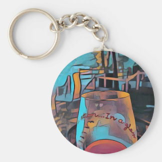 Cool Artistic Wine Glass Keychain