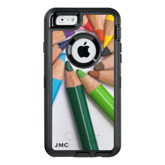 Cool Artsy Colorful Colored Pencils Monogrammed OtterBox iPhone 6/6s Case