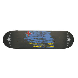 Cool Aruban flag design Skate Boards
