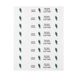 Cool As A Cucumber Address Labels