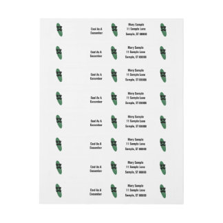 Cool As A Cucumber Address Labels Wraparound Address Label