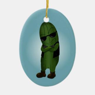 Cool As A Cucumber Ceramic Ornament