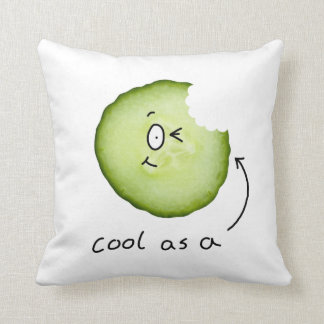 Cool as a cucumber character pillow