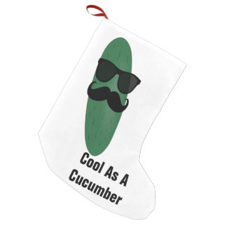 Cool As A Cucumber Christmas Stocking Small Christmas Stocking