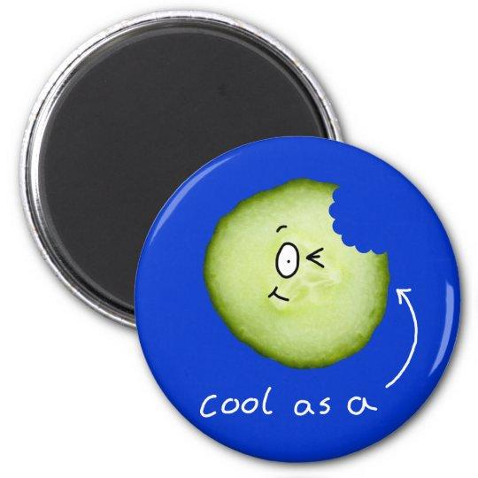 cool as a cucumber fridge magnet
