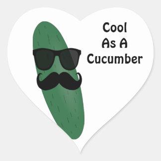 Cool As A Cucumber Heart Sticker