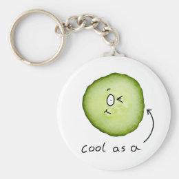 cool as a cucumber key chain