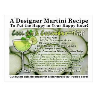 Cool As A Cucumber Martini Recipe Postcard
