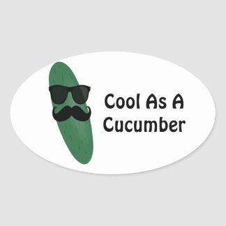 Cool As A Cucumber Oval Sticker