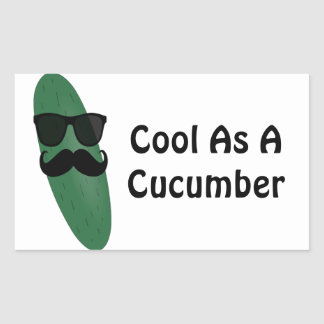 Cool As A Cucumber Rectangular Sticker