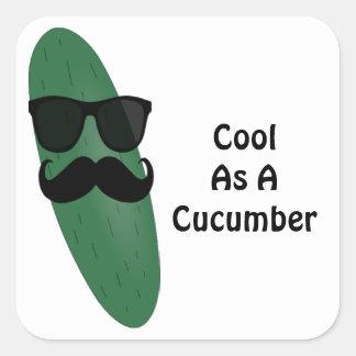 Cool As A Cucumber Square Sticker