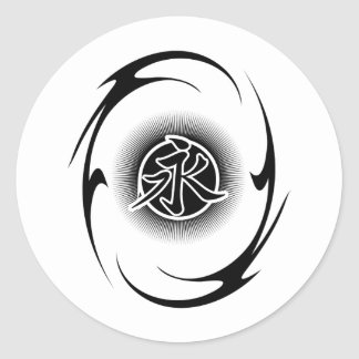 Cool Asian Tribal Classic Round Sticker