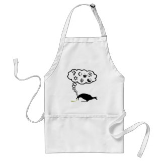 Cool atheist adult apron