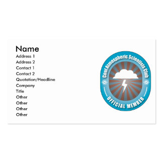 Cool Atmospheric Scientists Club Business Card