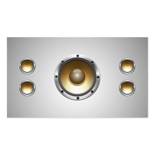 Cool Audio Speakers Dj Business Card Zazzle