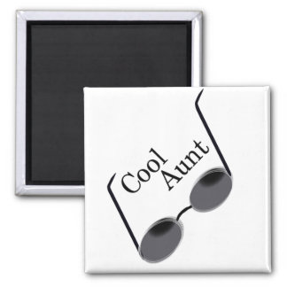Cool Aunt 2 Inch Square Magnet