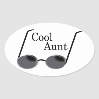 Cool Aunt Oval Sticker