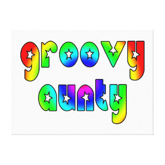 Cool Aunts Christmas & Birthdays : Groovy Aunty Gallery Wrapped Canvas