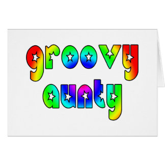 Cool Aunts Christmas & Birthdays : Groovy Aunty Stationery Note Card