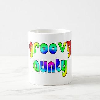 Cool Aunts Christmas & Birthdays : Groovy Aunty Classic White Coffee Mug