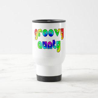 Cool Aunts Christmas & Birthdays : Groovy Aunty 15 Oz Stainless Steel Travel Mug