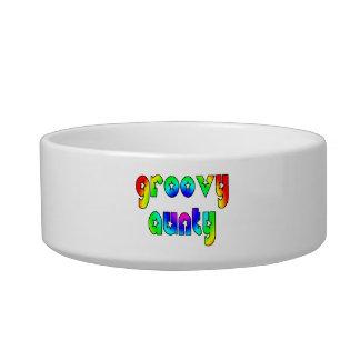 Cool Aunts Christmas & Birthdays : Groovy Aunty Cat Bowl