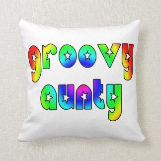 Cool Aunts Christmas & Birthdays : Groovy Aunty Pillow