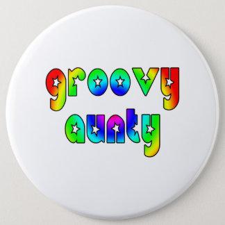 Cool Aunts Christmas & Birthdays : Groovy Aunty Pinback Button